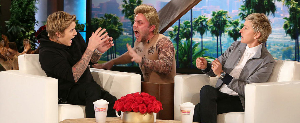 Ellen Hilariously Scares Justin Bieber With a Guy Dressed as a Calvin Klein Model