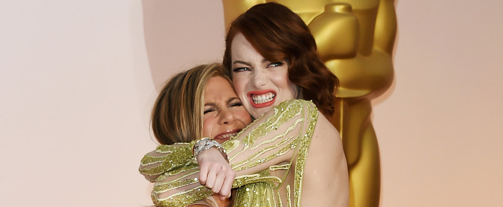 Jennifer Aniston Tried Picking Up Emma Stone at the Oscars, and It Was Hilarious