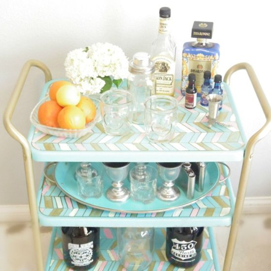 Affordable Bar Cart Hack