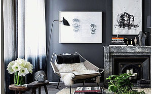 3 Ways to Style a Dark, Dramatic Living Room