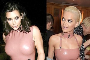 Kim Kardashian Vs. Rita Ora: Who Wore Pink Latex Best?