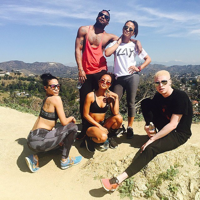 Christina Milian got her exercise in during a hike with friends.