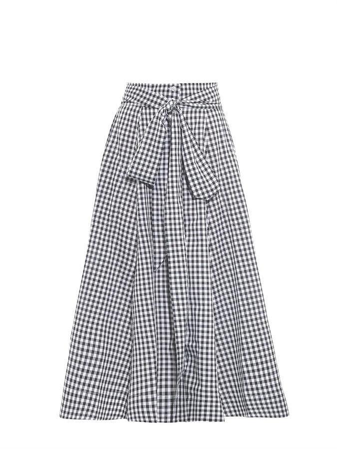 Lisa Marie Fernandez Gingham High-Waisted Skirt