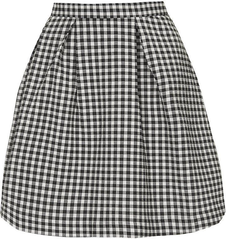 Topshop Gingham Skirt