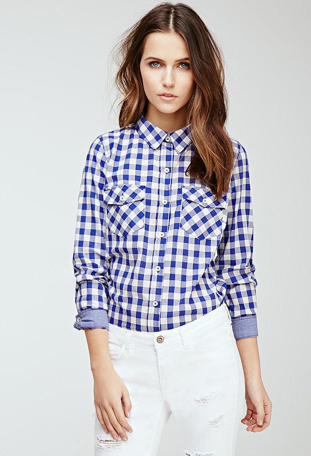 Forever 21 Two-Pocket Gingham Shirt
