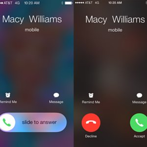 iPhone Accepting Calls Slider Versus Buttons