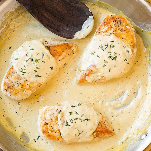 Chicken Breasts With Mustard Cream Sauce | POPSUGAR Food