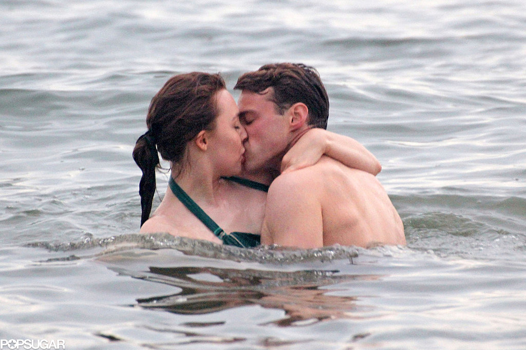 Things got hot and heavy in the ocean for Saoirse Ronan and Emory Cohen as they filmed scenes for Brooklyn at Coney Island in May 2014.