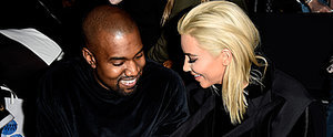 Blond Kim Kardashian Gets Giggly With Kanye in the Front Row at Fashion Week