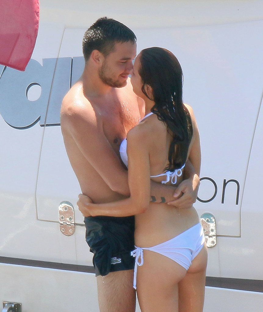 One Direction's Liam Payne couldn't keep his hands off of girlfriend Sophia Smith as they spent time on a yacht together in France in July 2014.