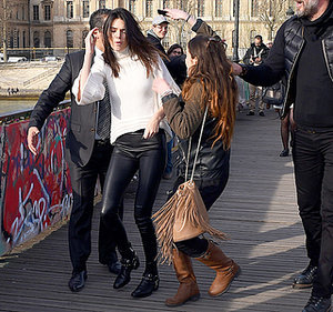 Kendall Jenner Gets Bum-Rushed By Fan Who Seemingly Tries to Kiss Her While Out in Paris -- See Her Priceless Reaction