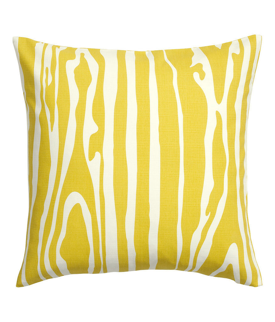Brighten up your bedding with this yellow pillow cover ($13).