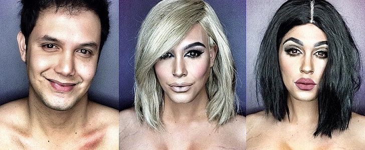 He Did It Again! A Man Transforms Into a Blond Kim K With Makeup