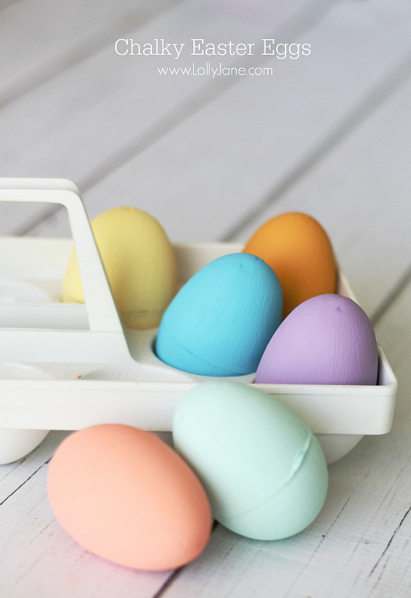 Chalky Easter Eggs