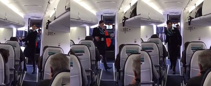 This Awesome Flight Attendant Busts a Move to Entertain Passengers
