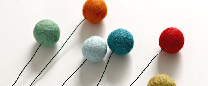 Create Some Colorful Spring Decor With This Felt Ball Flowers DIY Project