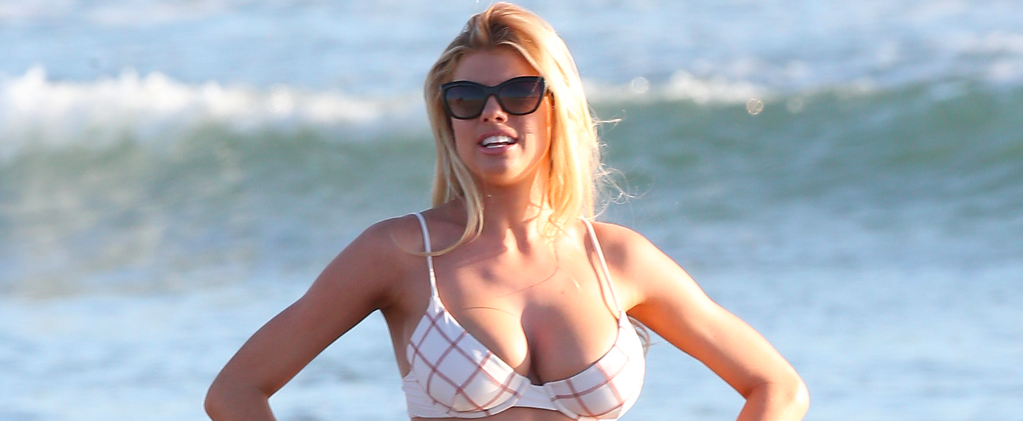 Model Charlotte McKinney Films Dancing With the Stars in a Barely There Bikini