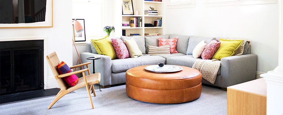 The Chicest Living Room Ottomans Out There