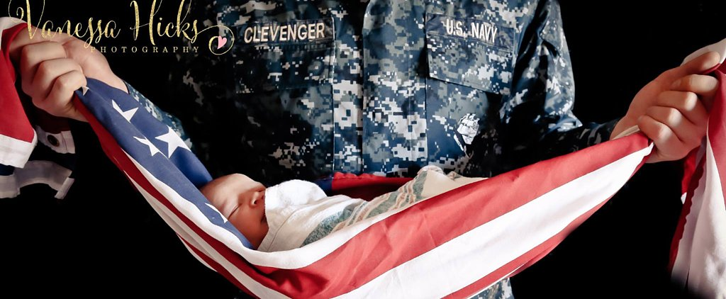 Controversy Sparks Over Veteran Holding Baby in American Flag