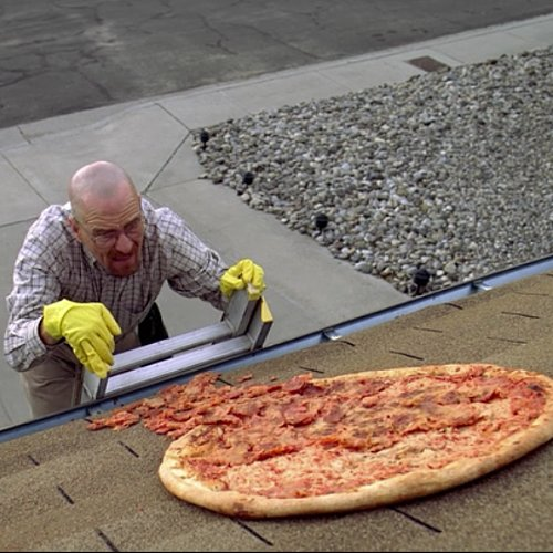 Fans Won't Stop Throwing Pizzas on the Roof of the Breaking Bad House