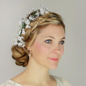 Braided Updo With Flowers DIY