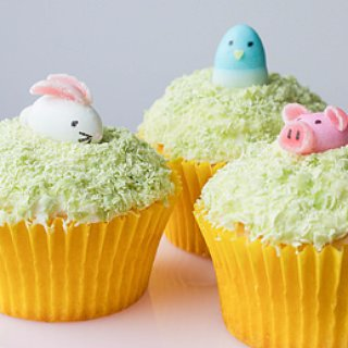 Easter Animal Cupcakes