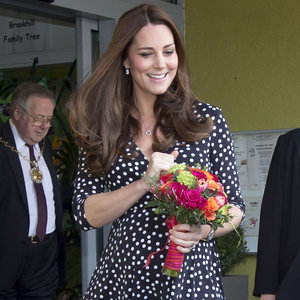 Pregnant Kate Middleton at Brookhill Children's Centre