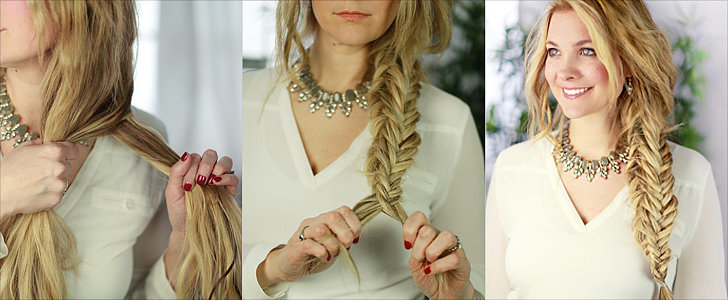 This Boxed Fishtail Braid Is Perfect For the Nautical Bride