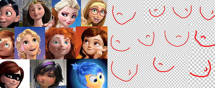 Have You Noticed That Almost Every Female Disney Pixar Character Has the Same Face?