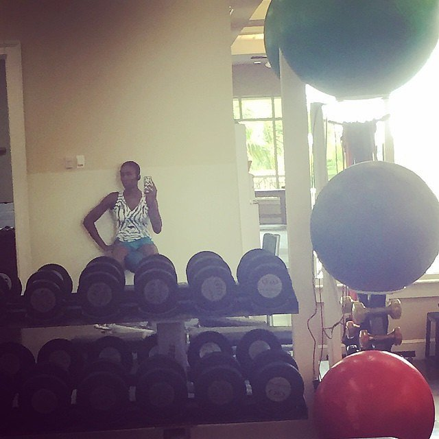 Just another day working out for Venus Williams.