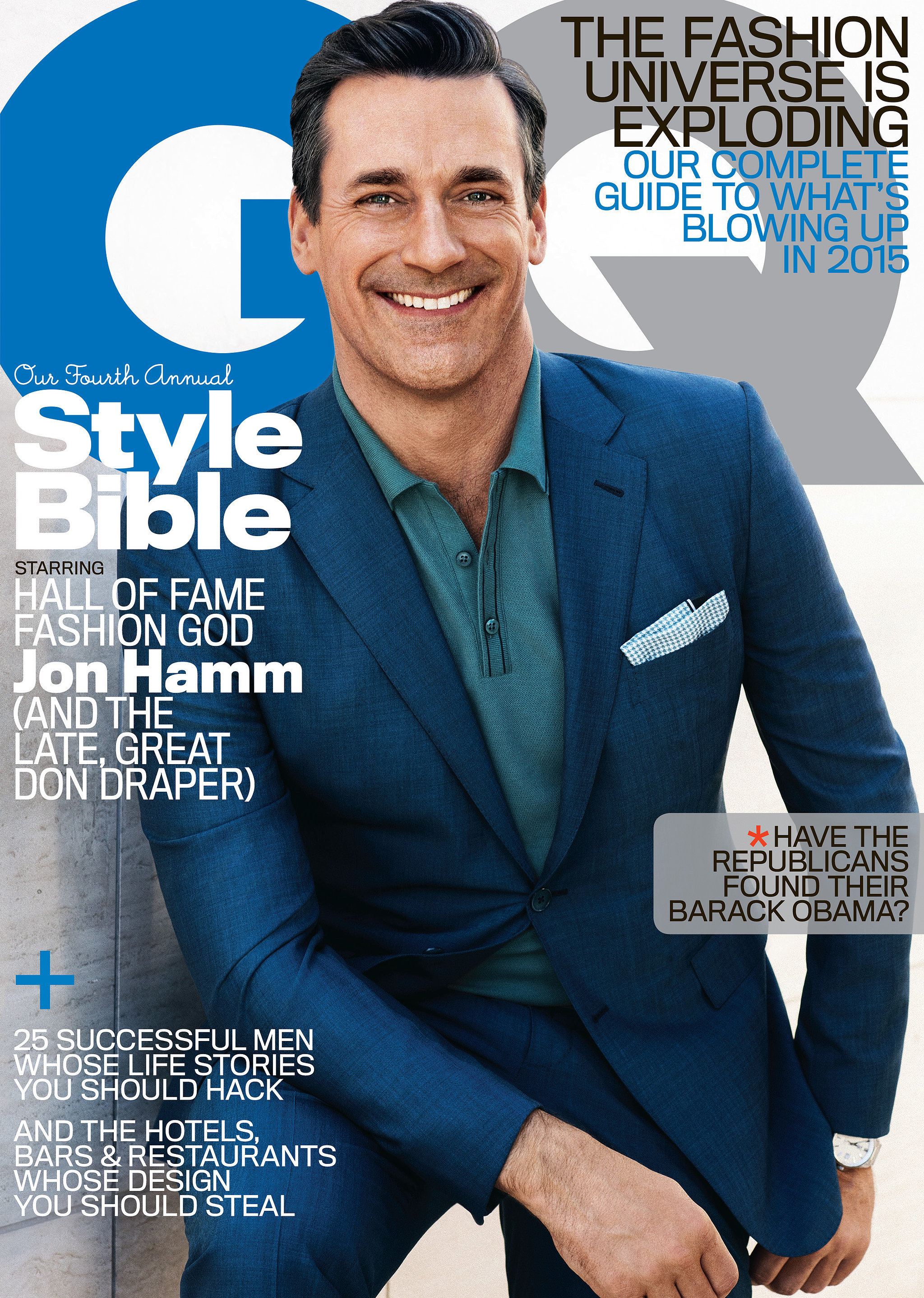 2015 Gq Men Of The Year Party In Los Angeles: Jon Hamm GQ Magazine April 2015