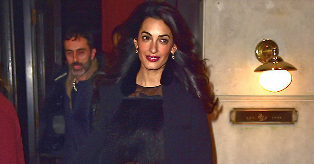 Amal Clooney Rocks Our World in a Crop Top and Wide-Leg Pants