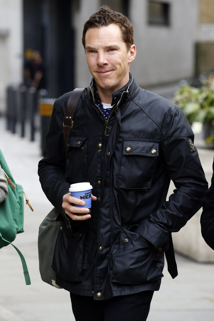 Benedict Cumberbatch Grabs Coffee in London March 2015 | POPSUGAR ...
