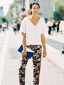A Low-Key Way to Wear Printed Pants This Week