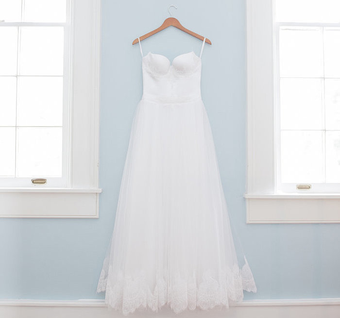 How much should you spend on a wedding dress popsugar for How much is the average wedding dress
