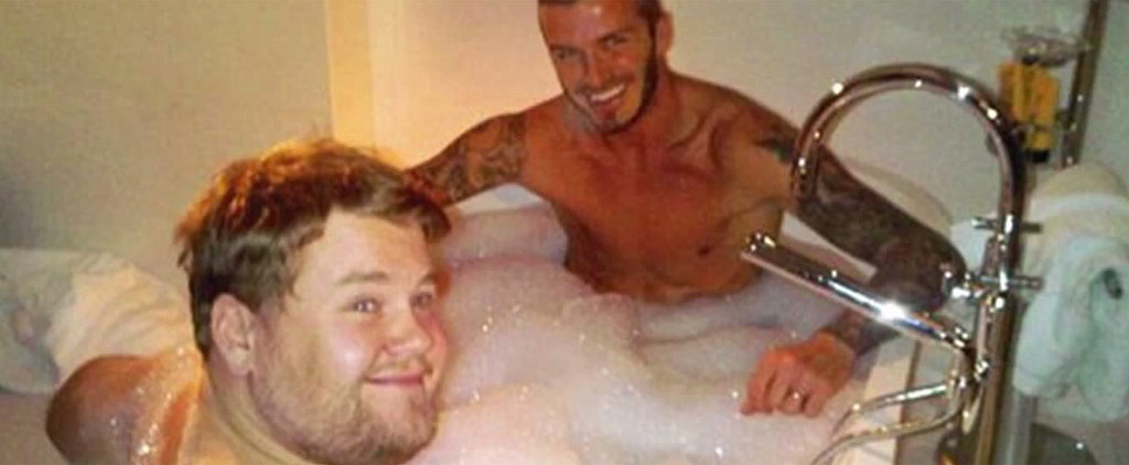James Corden Explains How He Ended Up in a Bathtub With David Beckham
