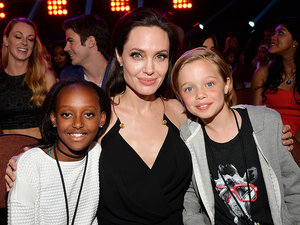 Angelina Jolie Makes Her First Post-Surgery Appearance with Shiloh and Zahara
