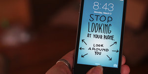 Hilarious iPhone Wallpapers Remind You To Look At Your Screen Less