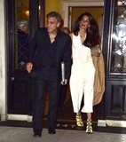 George Leads the Way For Amal