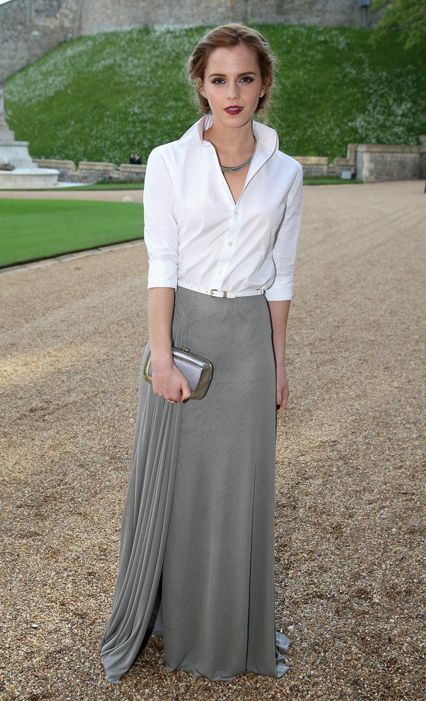 Emma Watson in Ralph Lauren at Prince William's Royal Marsden Dinner