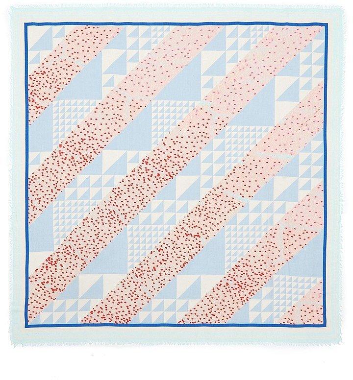 Proenza Schouler Diagonal Triangle Print Modal Silk Scarf