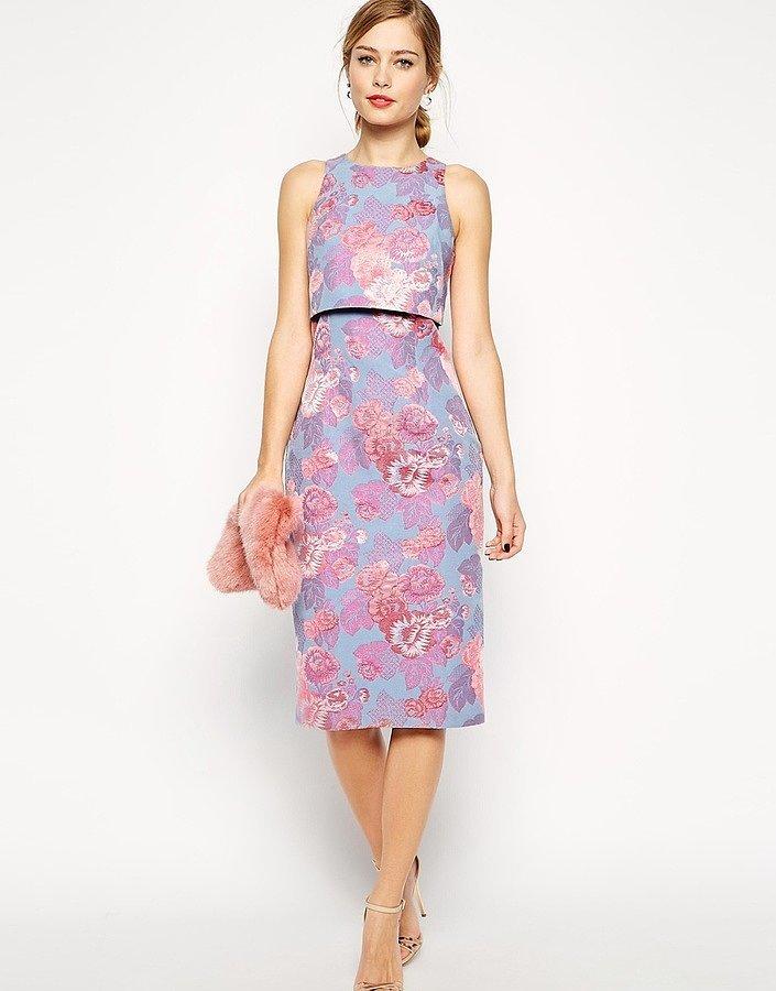 Asos Jacquard Crop Top Dress