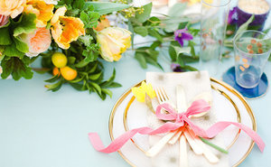 Simple Tricks to Setting a Modern Easter Table