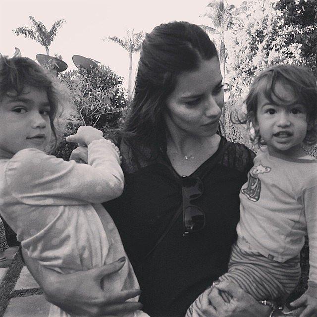 Adriana Lima With Valentina and Sienna