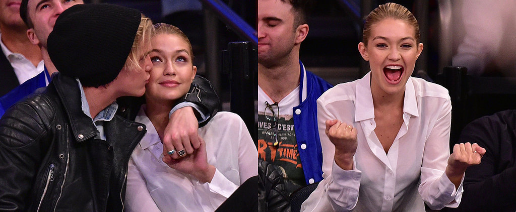 Gigi Hadid and Cody Simpson Bring Their Supercute PDA Courtside