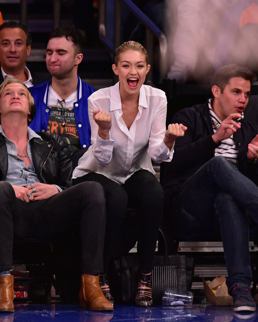 Gigi Hadid's Courtside Style Is a Slam Dunk
