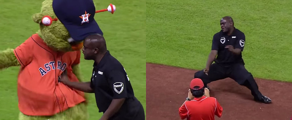 The Houston Astros Mascot Picked the Wrong Security Guard to Mess With