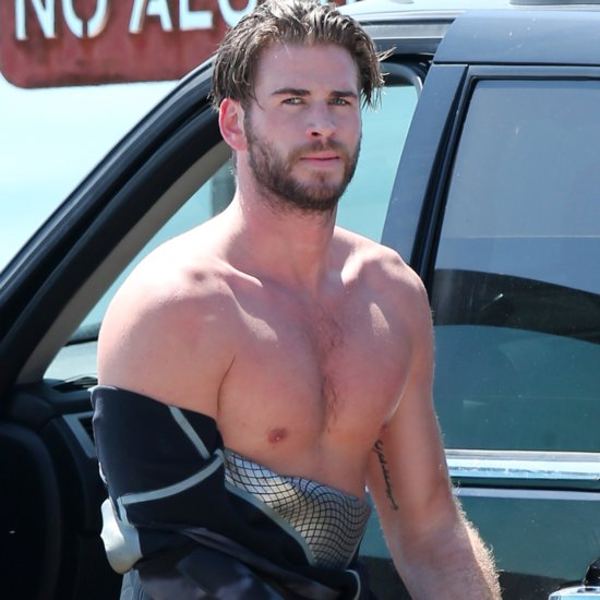 Liam Hemsworth Shirtless After Surfing in LA