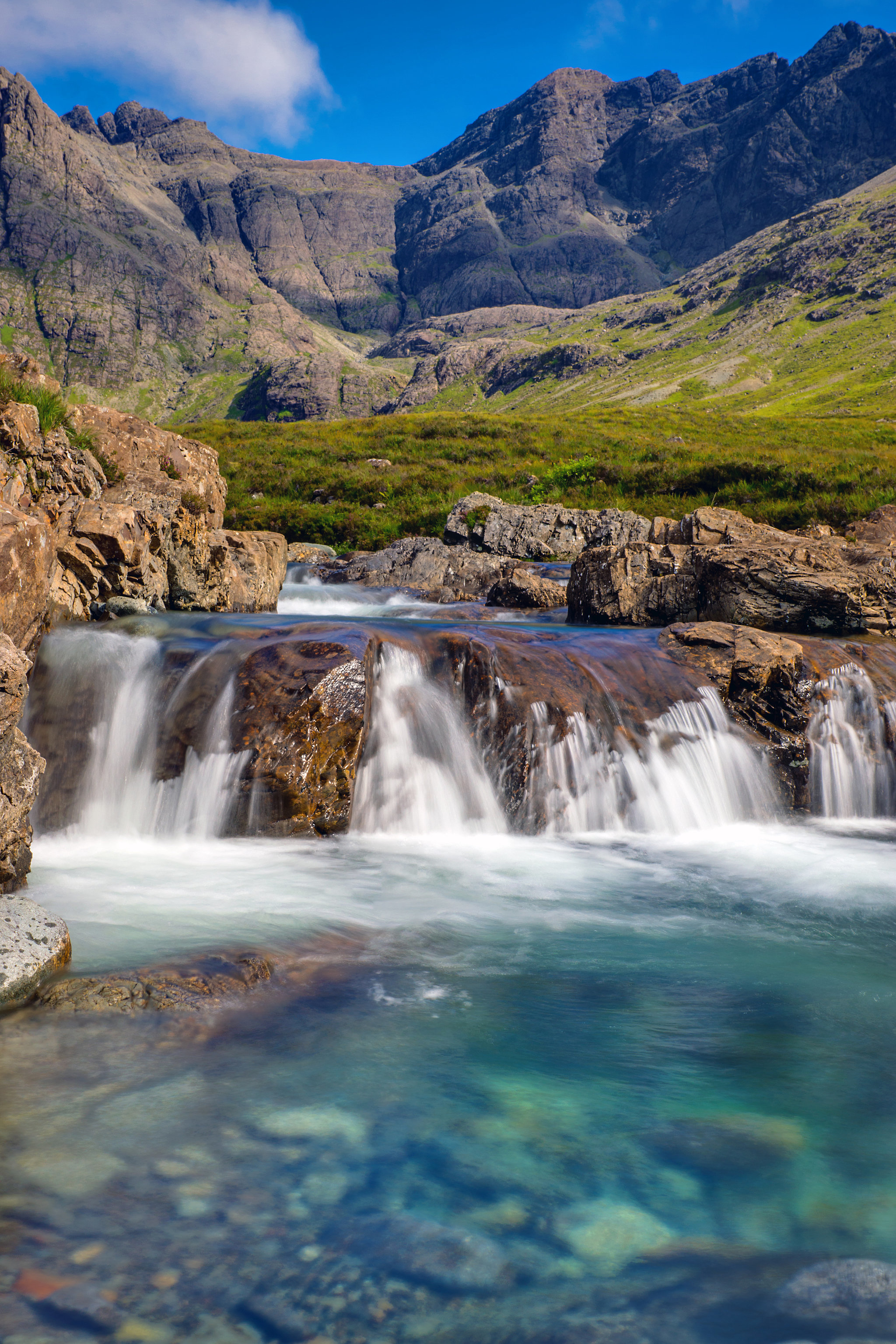 Fairy Pools in Isle of Skye, Scotland