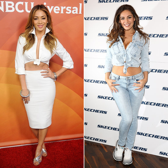 Kelly Brook and Nicole Scherzinger Wearing Tied-Up Shirts